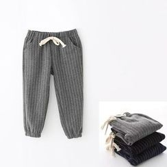 Milmerta - Kids Drawstring Striped Sweatpants