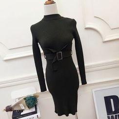 RUI - Belted Knit Dress