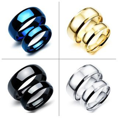 Tenri - Titanium Steel Matching Couple Ring