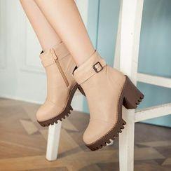 Pastel Pairs - 粗跟及踝靴