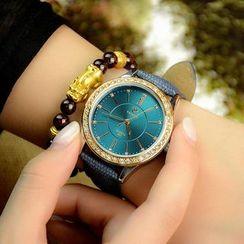 YAZOLE - 仿皮錶帶水鑽手錶
