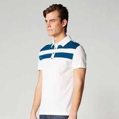 O.SA Men - Short-Sleeve Color-Block Polo Shirt