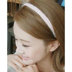 Miss21 Korea - Furry-Knit Slim Hair Band