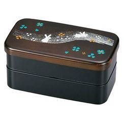 Hakoya - Hakoya Rectangular 2 Layers Lunch Box Mokume Noasobi Usagi