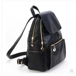 Huzzle Bag - Faux Leather Backpack