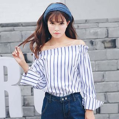 Ivena - Off-Shoulder Striped Blouse
