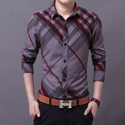 JIBOVILLE - Plaid Long-Sleeve Shirt