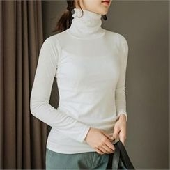 JOAMOM - Long Sleeve Turtleneck T-Shirt