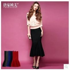 Tang House - Mermaid Long Knit Skirt