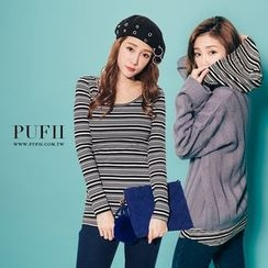 PUFII - Long Sleeve Hooded Tee