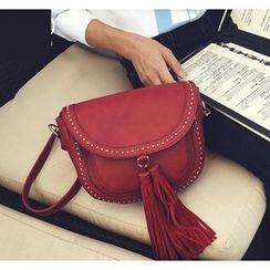 Youshine - Tasseled Faux Leather Shoulder Bag
