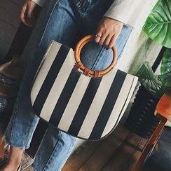 Youshine - Striped Canvas Tote Bag