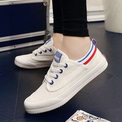 MARTUCCI - Striped Canvas Sneakers