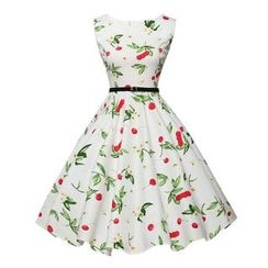 Fashion Street - Floral Print Sleeveless Dress