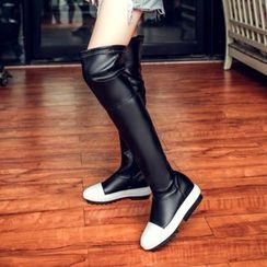 JY Shoes - Platform Over-the-Knee Boots