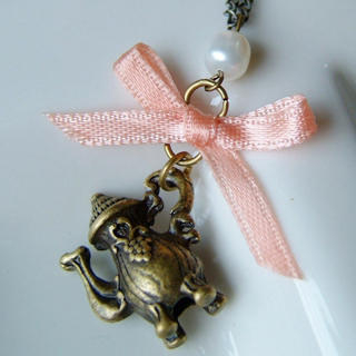 MyLittleThing - Sweetie Ribbon Pearl Kettle Necklace
