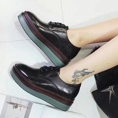 Zapatos - Faux-Leather Oxford Shoes