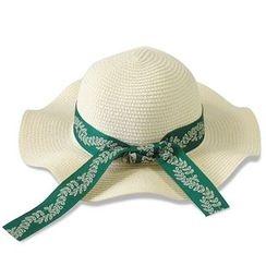 Eva Fashion - Ribbon Trim Straw Hat