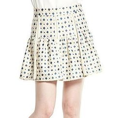 O.SA - Patterned A-Line Skirt