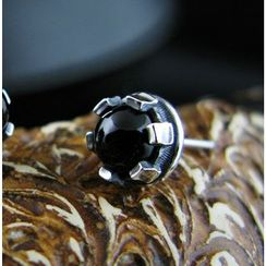 Sterlingworth - Hand Made Black Onyx Single Stud Earring