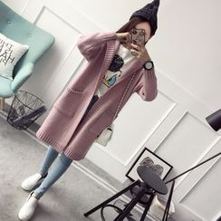 Qimi - Hooded Long Cardigan