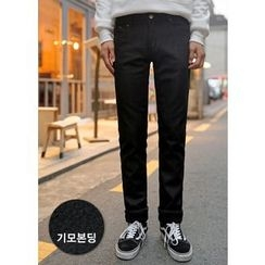 GERIO - Brushed Fleece Lined Straight-Cut Pants