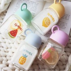 Wild Peach - 水果印花玻璃水瓶