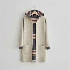 PEPER - Hooded Open-Front Cardigan