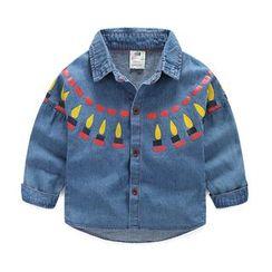 Seashells Kids - Kids Patterned Denim Shirt