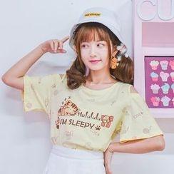 Moriville - 露肩短袖T恤