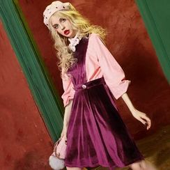 ELF SACK - Velvet A-Line Dress