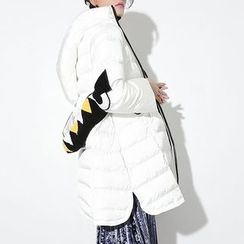 Ultra Modern - Family Matching Monster Applique Hooded Long Padded Coat