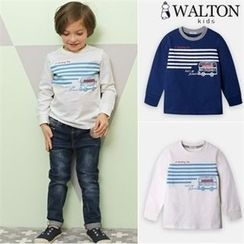 WALTON kids - Boys Contrast-Trim Printed T-Shirt