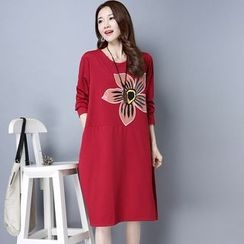 Diosa - Print Long-Sleeve Dress