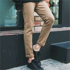 MITOSHOP - Colored Slim-Fit Pants