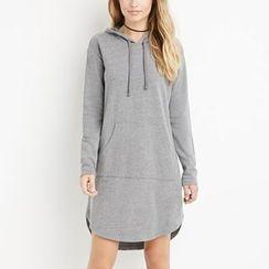 Rebecca - Plain Hoodie Dress