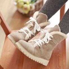 天姿 - 繫帶短款雪靴