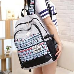 Rainbow Whimz - Print Canvas Backpack