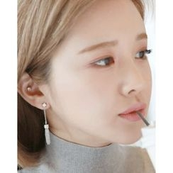 Miss21 Korea - Chain-Tassel Drop Earrings