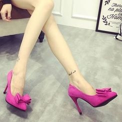 kokoin - Bow Pointy Toe Stilettos