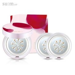su:m37 - Cooling Sun CC Collaboration Set: Cushion SPF50+ PA+++ With Refill 2pcs