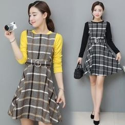 lilygirl - Check A-Line Dress