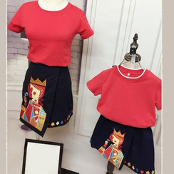 Tabla - Family Set : Short-Sleeve T-shirt + Embroidered Skirt