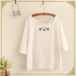 Fairyland - Cat Elbow-Sleeve T-shirt