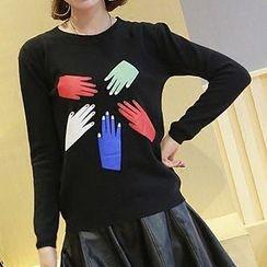 lilygirl - Hand Print Sweater