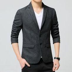Elkelake - 纯色西装外套