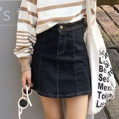 Dasim - A-Line Mini Denim Skirt