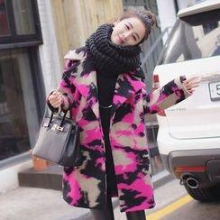 Sienne - Camo Woolen Long Coat