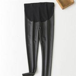 Meigo - Faux Leather Leggings