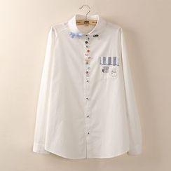 Tangi - Embroidered Embellished Shirt